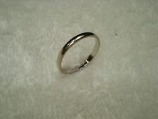 Solid 14K White Gold Size 6.5mm Women Wedding Band Ring