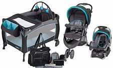 New Baby Stroller Car Seat, Nursery Playard, 8 Piece Diaper Bag Travel System