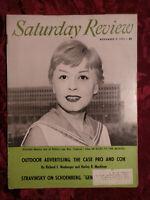 Saturday Review November 9 1957 GIULIETTA MASINA IGOR STRAVINSKY JOHN STEINBECK