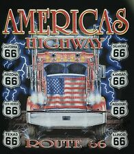 T-Shirt #285 AMERICAN HIGHWAY, Route 66, Trucker, LKW,Biker, Dragster, Pin Up,