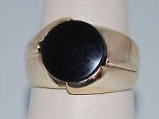 10k Gold ring with black onyx gemstone