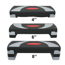 """Exercise 30'' Aerobic Step Adjust 4"""" - 6"""" - 8"""" Fitness Stepper with Risers"""