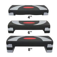 Fitness Aerobic Step 30'' Club Cardio Adjust Exercise Stepper w/Risers 4'' - 8''