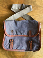 Old Leather & Canvas Twill Fishing Bag