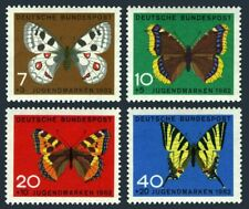 Germany B380-B383,MNH.Michel 376-379. Butterflies 1962.