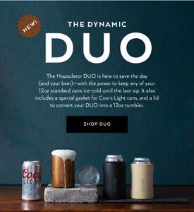 BRUMATE HOPSULATOR DUO 2-in-1 Insulator Cooler And Tumbler 12 OZ CANS OR DRINKS