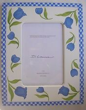 """Di Lewis Frame Art Work Photo Bedroom Blue Floral 4 X 6"""" Picture New"""