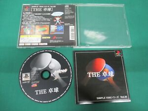PlayStation - THE TAKKYU TABLE TENNIS  - PS1. JAPAN GAME. work. 30750