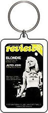 BLONDIE KEYCHAIN Double Sided Magazine Cover Logo NEW OFFICIAL MERCHANDISE
