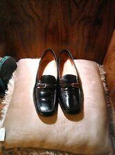 Bally Women Black Leather Loafers Size 37 1/2 EU (7 US)