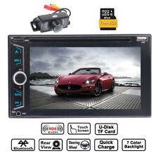6.2 Inch Car Stereo Radio HD Touch Screen Bluetooth 2din & Camera CD DVD Player