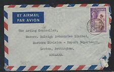 SARAWAK (P2909B) KGVI 50C LADY A/M TO ENGLAND