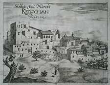 1689 Valvasor view KRSAN, ISTRIA, CROATIA