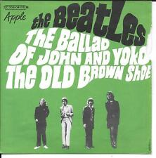 """45 TOURS / 7""""--THE BEATLES--THE BALLAD OF JOHN AND YOKO / THE OLD BROWN SHOE"""