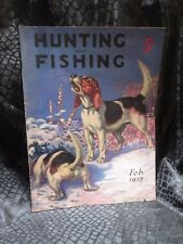 Hunting And Fishing Magazine February 1937 Beagle dog cover
