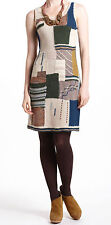 Sleeping on Snow Patchwork Variations Sweater Dress Large NW ANTHROPOLOGIE Tag