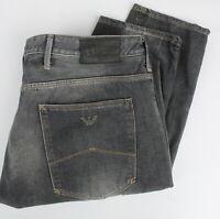 ARMANI JEANS JO6 SLIM Men's W38/L34 Zip Fly Fade Effect Grey Jeans 23998-JS