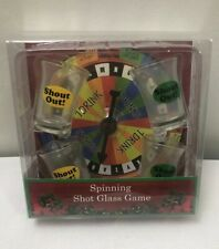 Spinning Shot Glass Game Fun Categories 4 Glasses And Game Board Free Shipping