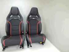 Mercedes-Benz Front AMG Leather/Alcantara Seats with red stitch. for A45; CLA45