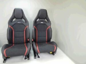 Mercedes-Benz Front AMG Leather/Alcantara Seats with red stitch. for A45, CLA45