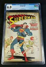 Superman #56 Golden Age DC 1949 CGC 6.0 FN with Off-White Pages DC Wayne Boring