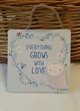 woodland Owl hanging plaque decoration BNIP Sass Belle GROWS WITH LOVE XMAS GIFT