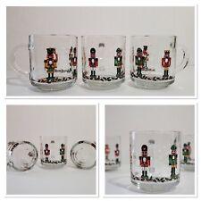 Glass Nutcracker Mug - Snowflakes - Eggnog Glass - Christmas - Decorative -