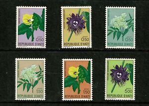 U0211 HAITI 1965 Air mail - Flowers  MH