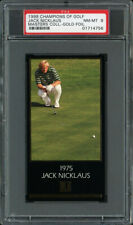 1997-98 GRAND SLAM VENTURES GOLF MASTERS GOLD FOIL JACK NICKLAUS (1975) PSA 8