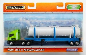 2011 Matchbox Super Convoy MBX Cab & Tanker Hauler GREEN / A ONE TANKERS