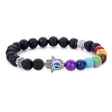 New 7 Chakra Reiki Hamsa Hand Fatima Evil Eye Energy Man Women Lucky Bracelet