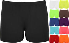Nylon Patternless Machine Washable Shorts for Women