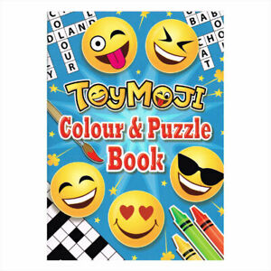 12 Emoji Puzzle Activity Colouring Books A6, Childrens, Kids Party Bag Filler