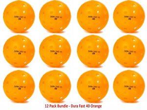 DuraFast 40 Outdoor Pickleball Ball Pack of 12  (Orange) Authorized Dealer