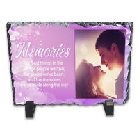 Personalised Memories Rock Slate Photo Frame - Rectangle