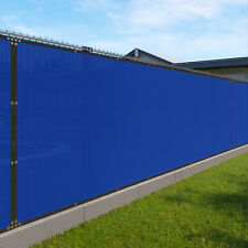 Blue 240GSM 2ft Privacy Screen Fence Commercial Windscreen Mesh Cover
