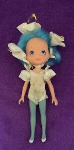 "Rose Petal Place Lily Fair 6"" Blue Hair Fashion Doll 1984 Vintage"