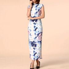 Women Oriental Style Festive Flag Dress Cap Sleeve AU Size 8 10 12 14 16 18 0699