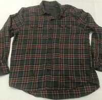 Woolrich Mens Shirt XXL 2XL Gray Red Green Plaid Flannel Long Sleeve Button Up