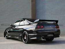 New 2Pc Rear Bumper Spat Add On For Nissan Skyline R33 GTS TS Style Carbon Fiber