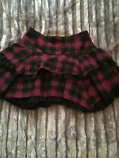 Next Checked Lagenlook Skirt Emo Goth Size 14