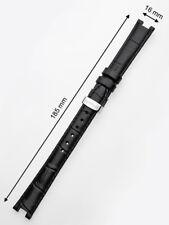 Juwelis Ersatzband JW-0602 16 x 185 mm schwarz silberne Faltschliesse