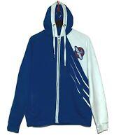Hayabusa Fightwear Hooded Jacket Blue L Uwagi MMA UFC Jiu Jitsu Zipper Pockets