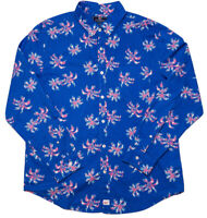 VINEYARD VINES Long Sleeve Slim Fit Murray Shirt Palms Blue Pink Large L