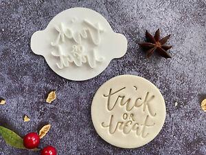 Trick or Treat | Halloween | Embossing Stamp | ebs133 | Cupcake | Fondant Cake