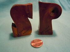 Vintage Maple Wood Letter S and P Salt and Pepper Shakers St Cloud Minn       84