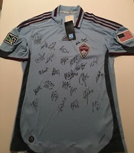 MLS Adidas COLORADO RAPIDS 2009 OFFICIAL GAME Soccer shirt Jersey Mens/M SIGNED