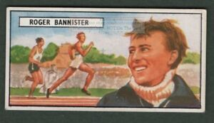 British Runner Roger Bannister First Sub 4 Minute Mile Vintage Trade Ad Card