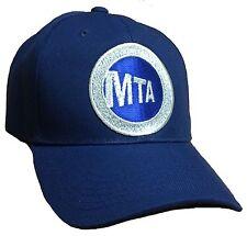 MTA BASEBALL  HAT COLOR ALL NAVY BLUE ADJUSTABLE NEW HAT