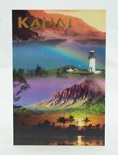 Postcard Kauai Napali Coast Kilauea Lighthouse Kalalau Valley Salt Pond Beach HI